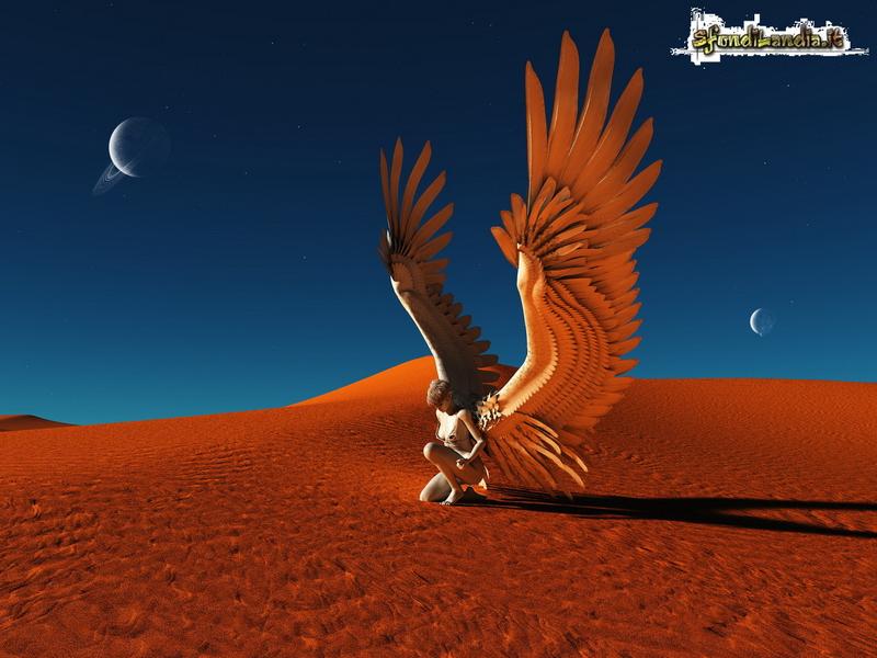 Angelo nel deserto