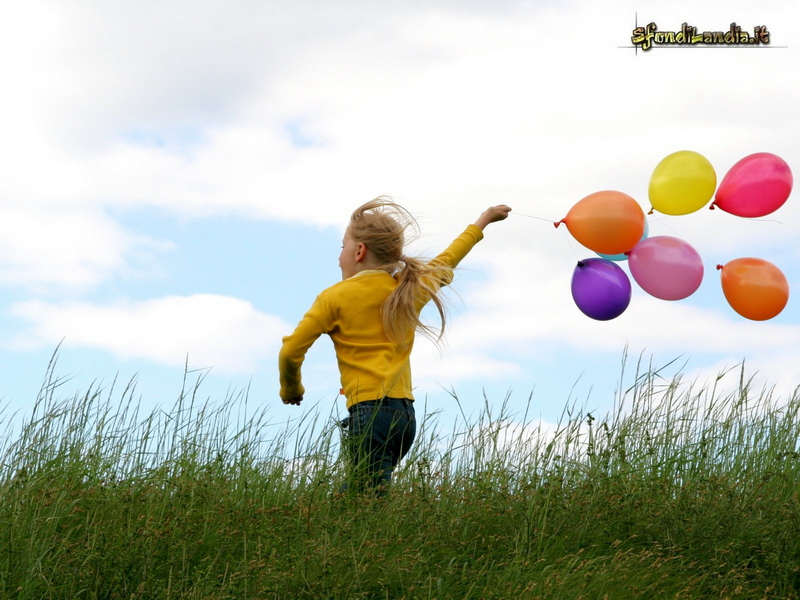 Child And Baloons