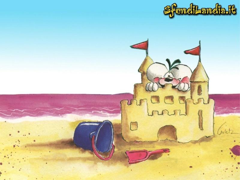 Sfondo gratis di castello di sabbia per for Sfondilandia mare