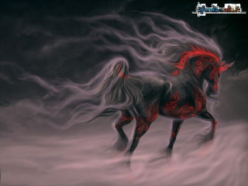 Sfondilandiait Sfondo Gratis Di Unicorno Nero Per Desktop