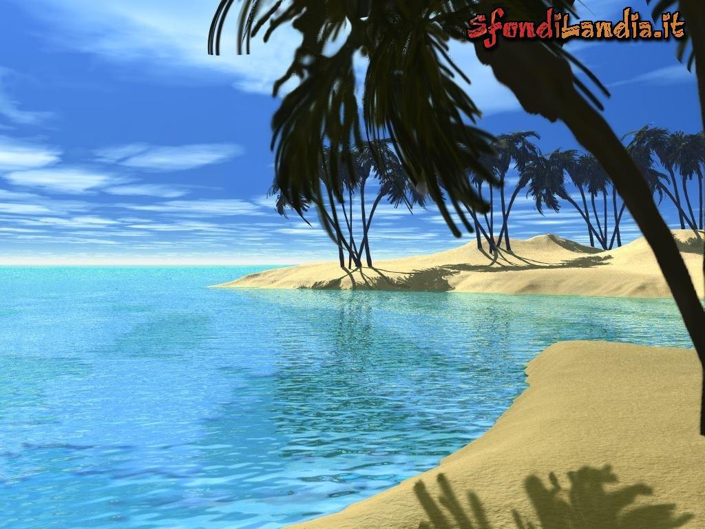 Sfondilandiait Sfondo Gratis Di Spiaggia 3d Per Desktop