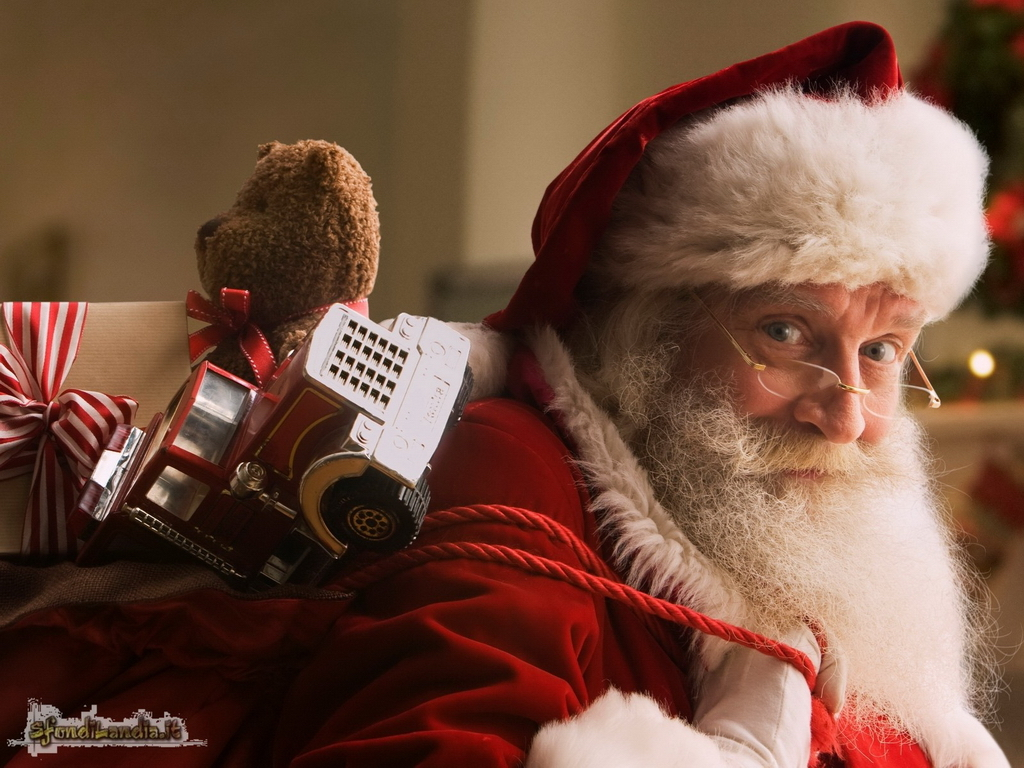 Sfondi Babbo Natale.Sfondilandia It Sfondo In Hd Gratis Di Babbo Natale Per Pc Desktop E Smartphone Android E Iphone In Risoluzione 1024x768