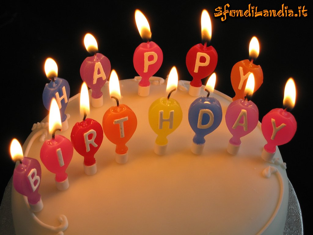 Bien-aimé SfondiLandia.it | Sfondo gratis di Buon compleanno per desktop  CD67