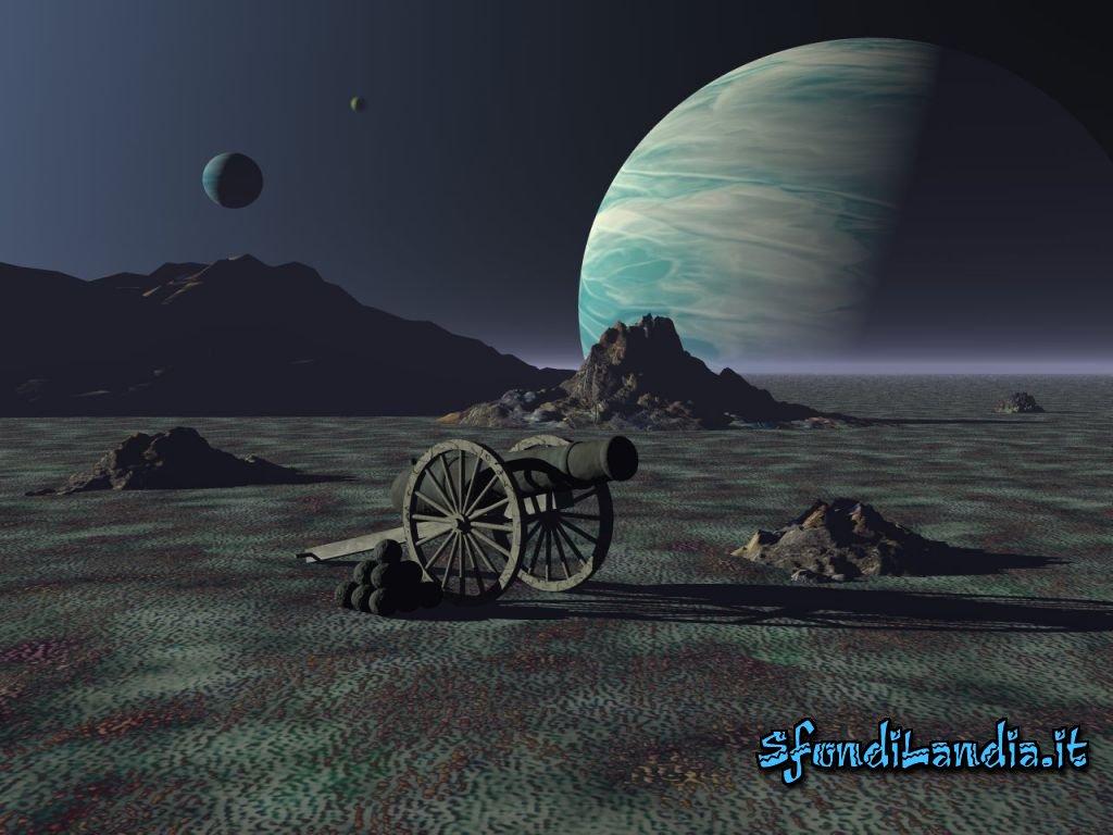 Cannone sulla luna