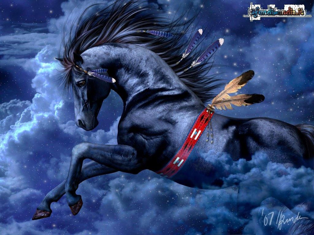Sfondilandiait Sfondo Gratis Di Cavallo Selvaggio Per Desktop