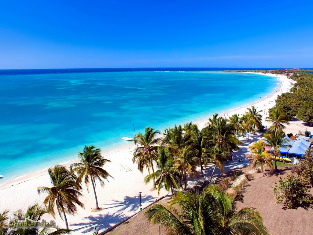 Sfondo gratis di spiaggia cubana per for Sfondilandia mare