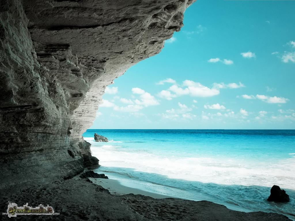 sfondo gratis di gorgeous beach cave per