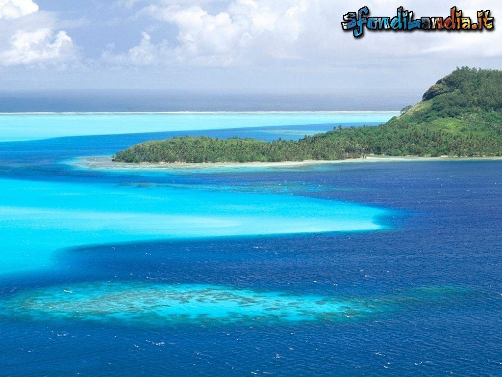 Sfondo mare azzurro gratis a 1024x768 per il desktop del for Foto per desktop mare