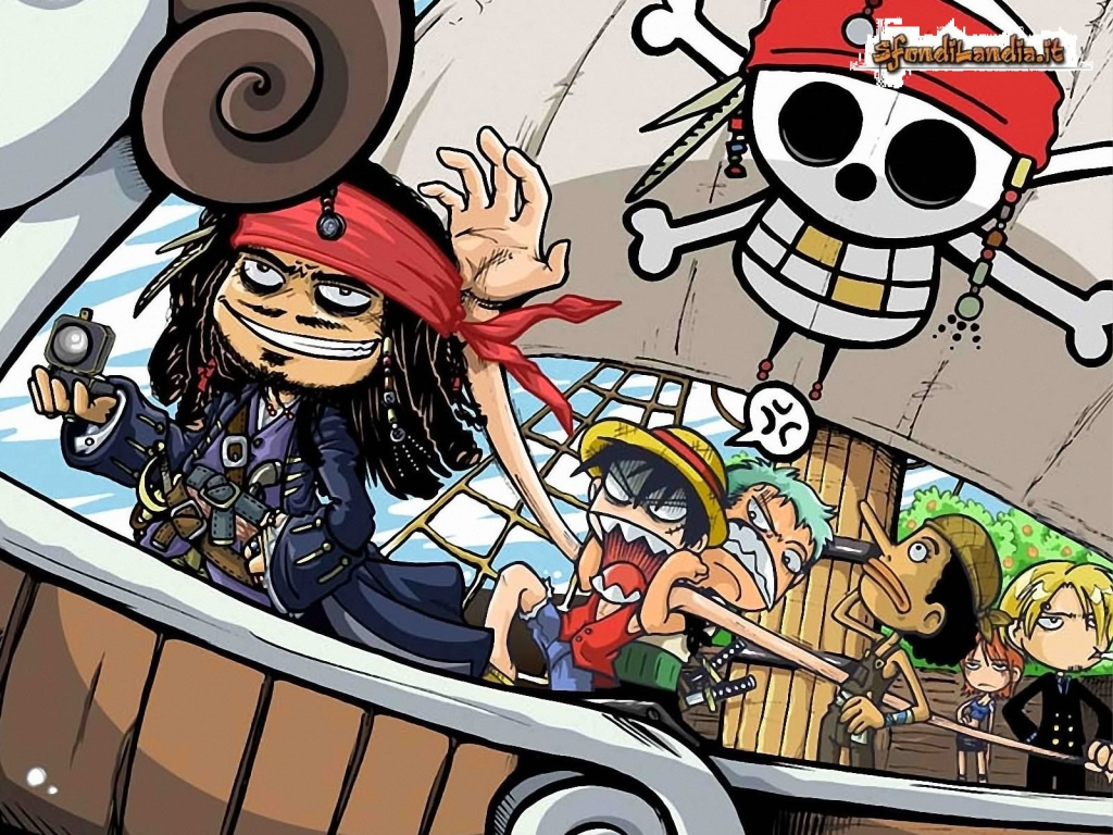 Sfondilandiait Sfondo Gratis Di One Piece On Ship Per Desktop