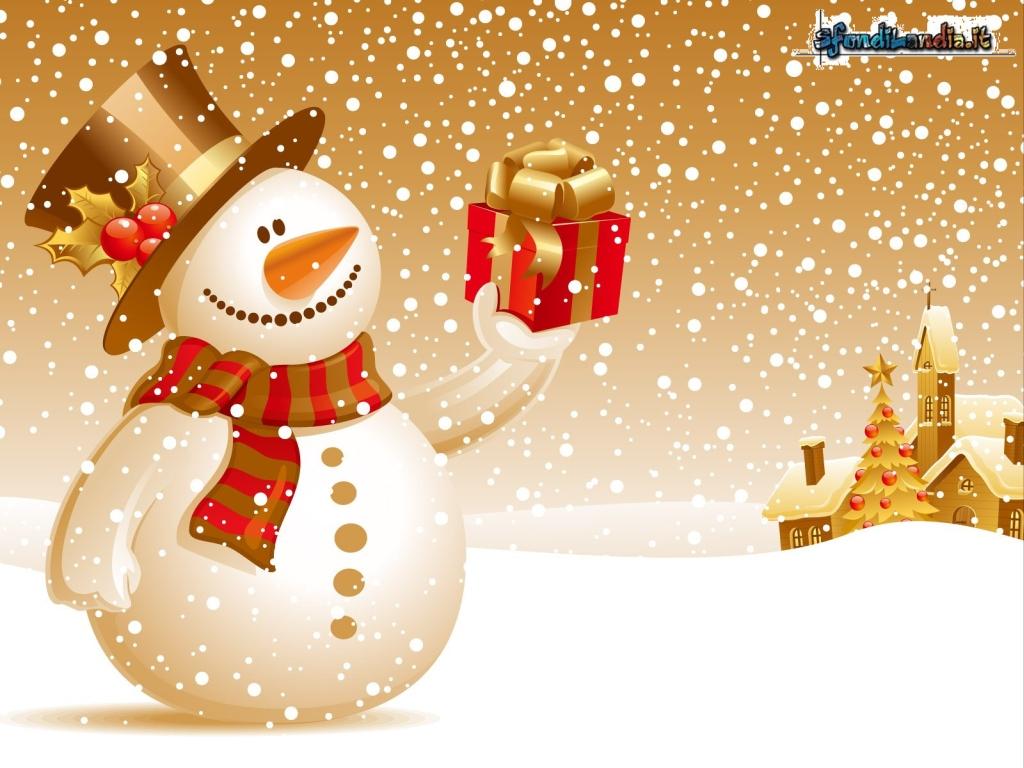 Immagini Natale 1024x768.Sfondilandia It Sfondo Gratis Di Pupazzo Di Natale Per Desktop