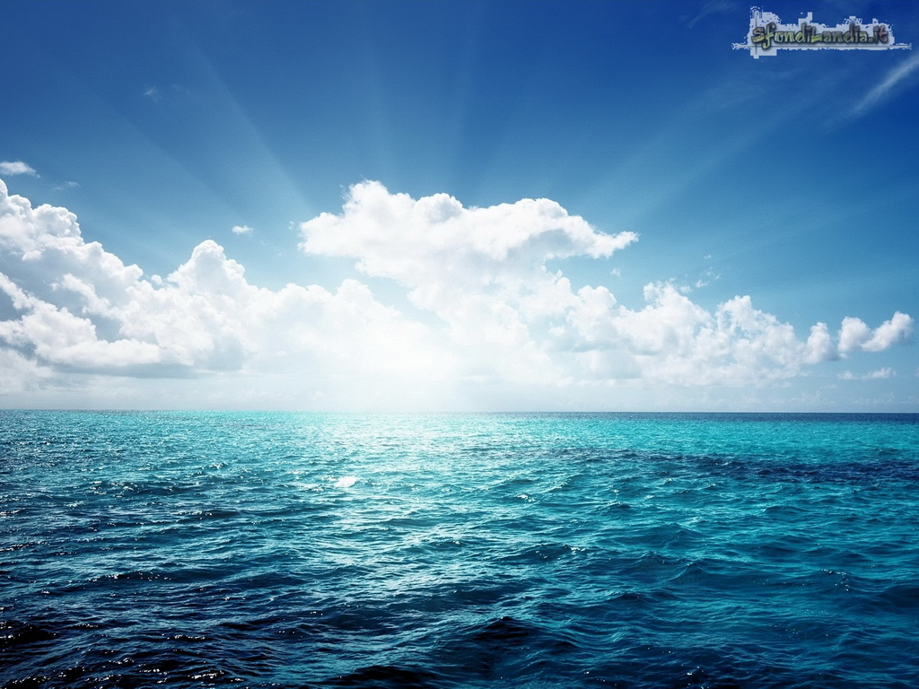 Sfondo gratis di sole in mare aperto per for Sfondilandia mare