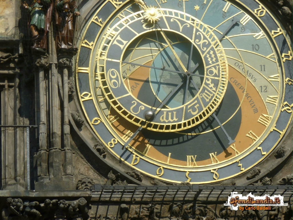 Sfondilandia sfondo gratis di orologio praga per