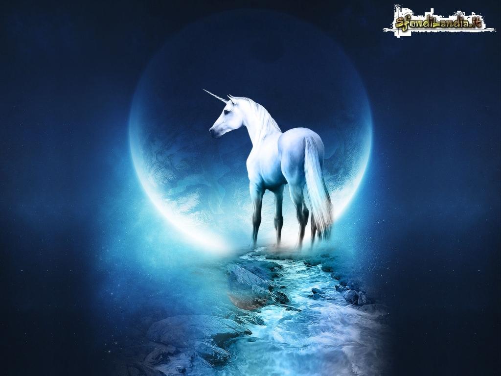 Sfondilandiait Sfondo Gratis Di Unicorno Bianco Per Desktop