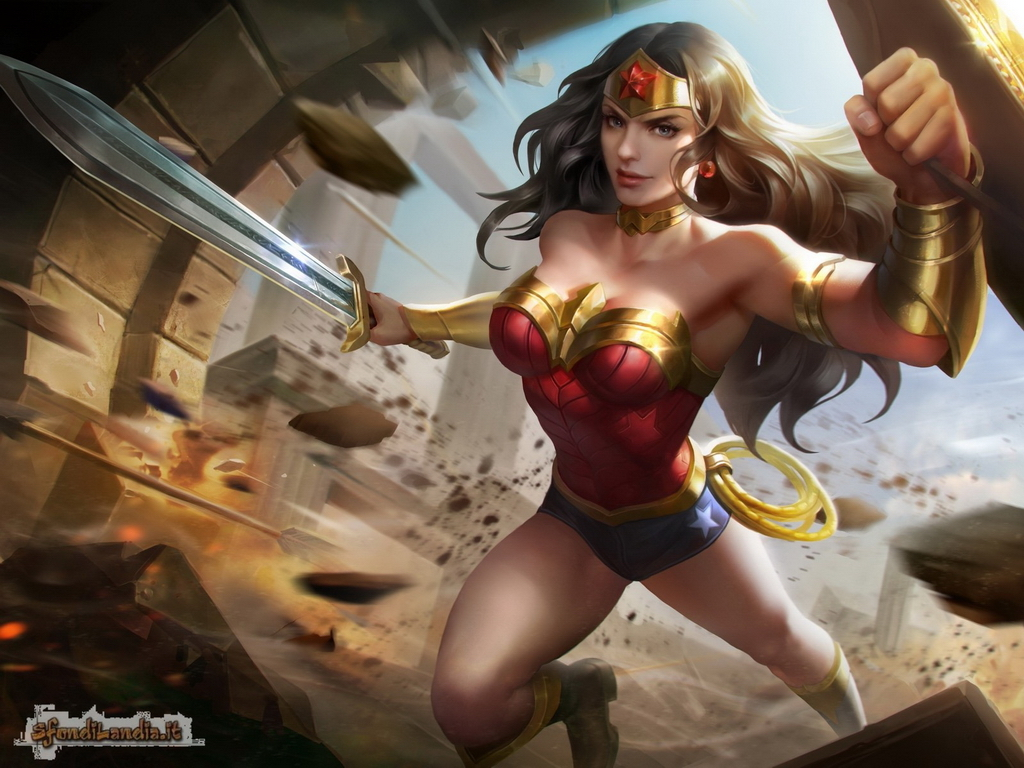 Wonder Woman Fighting
