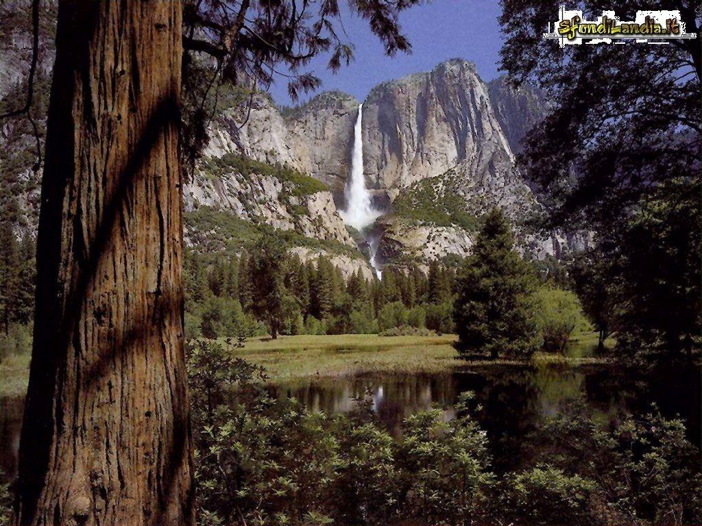 Cascata tra i monti
