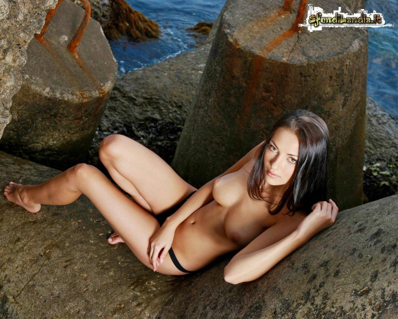 Anna On Beach