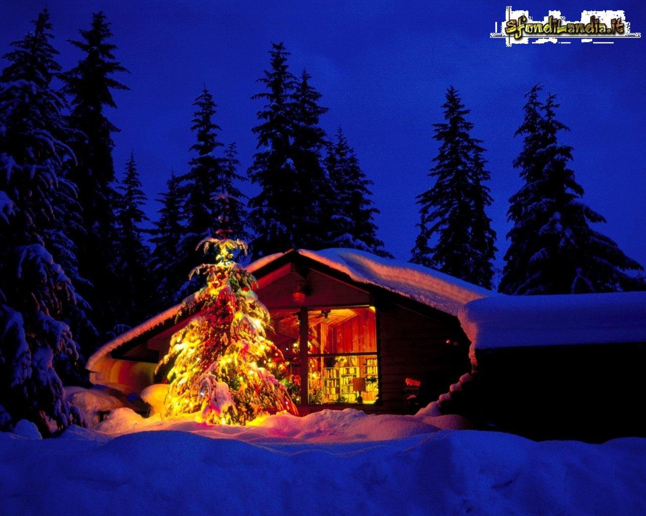 Immagini Natale Per Desktop.Sfondilandia It Sfondo In Hd Gratis Di Baita Di Natale Per Pc Desktop E Smartphone Android E Iphone In Risoluzione 1280x1024