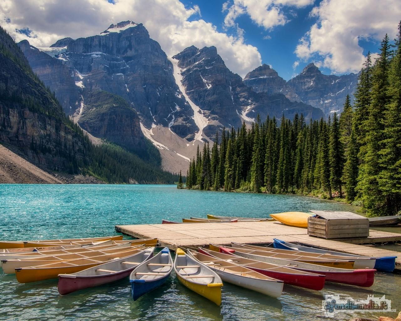 Kayaks In Lake Moraine
