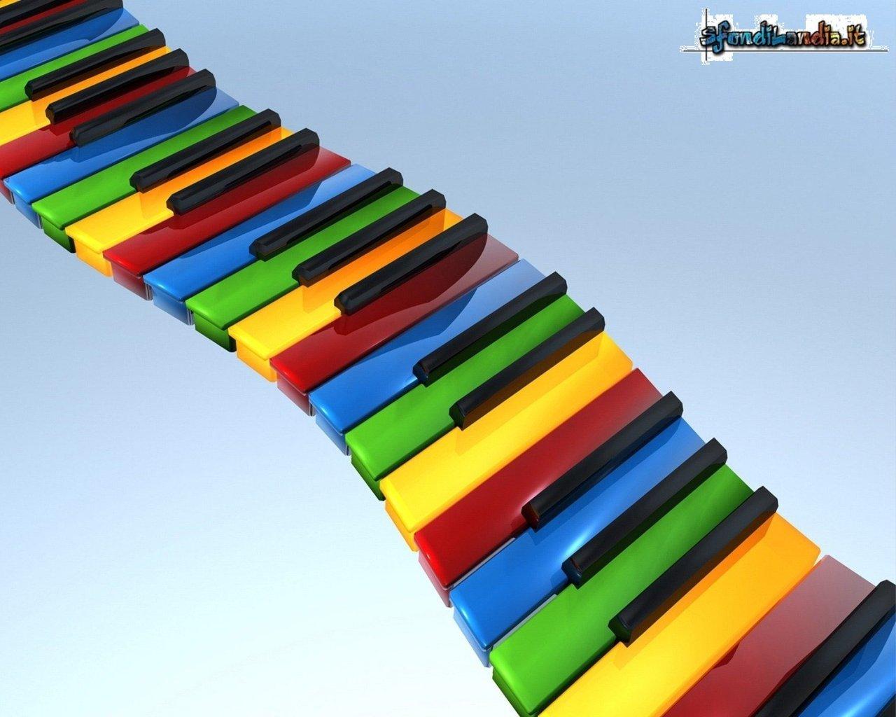 Sfondo gratis di piano colorato per for Sfondilandia mare