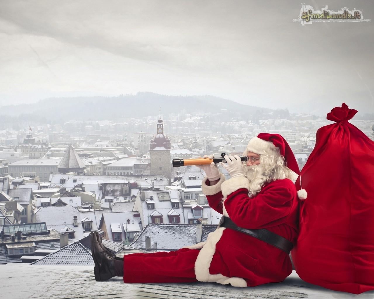 Babbo Natale sui tetti