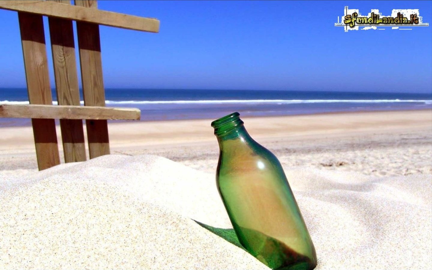Bottle On Beach