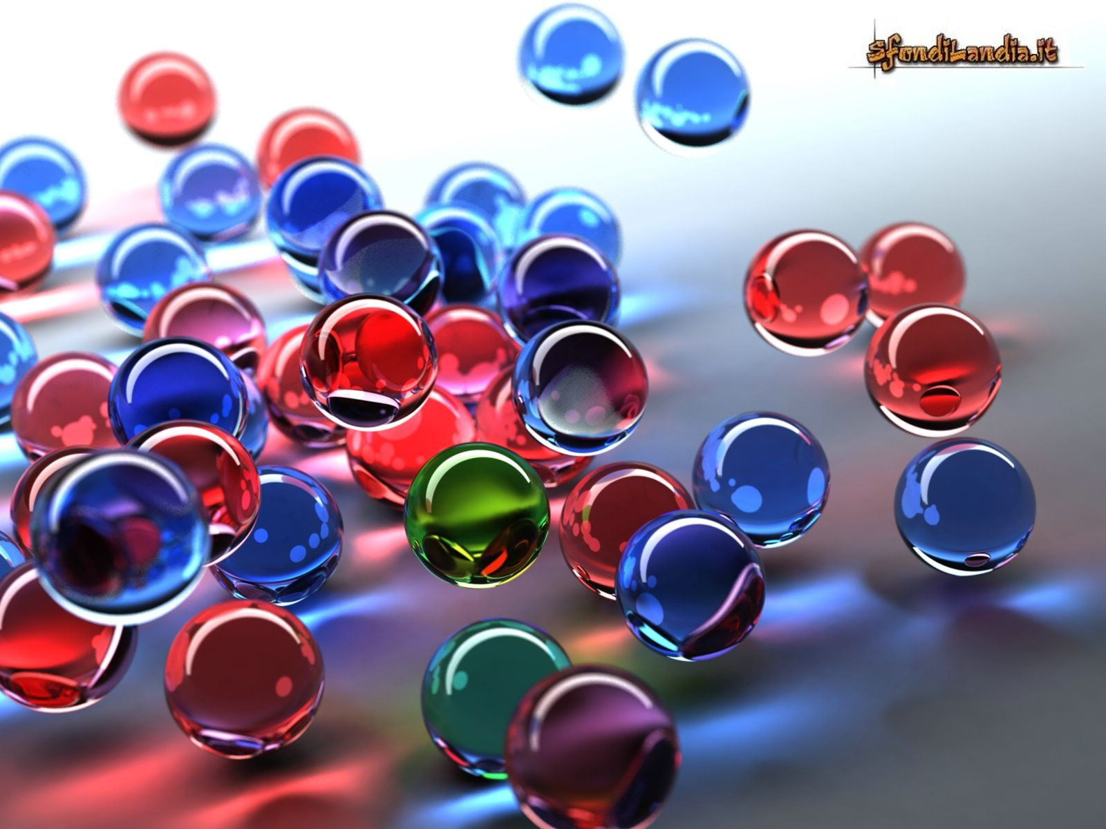 Estremamente SfondiLandia.it | Sfondo gratis di Biglie colorate per desktop  PJ05