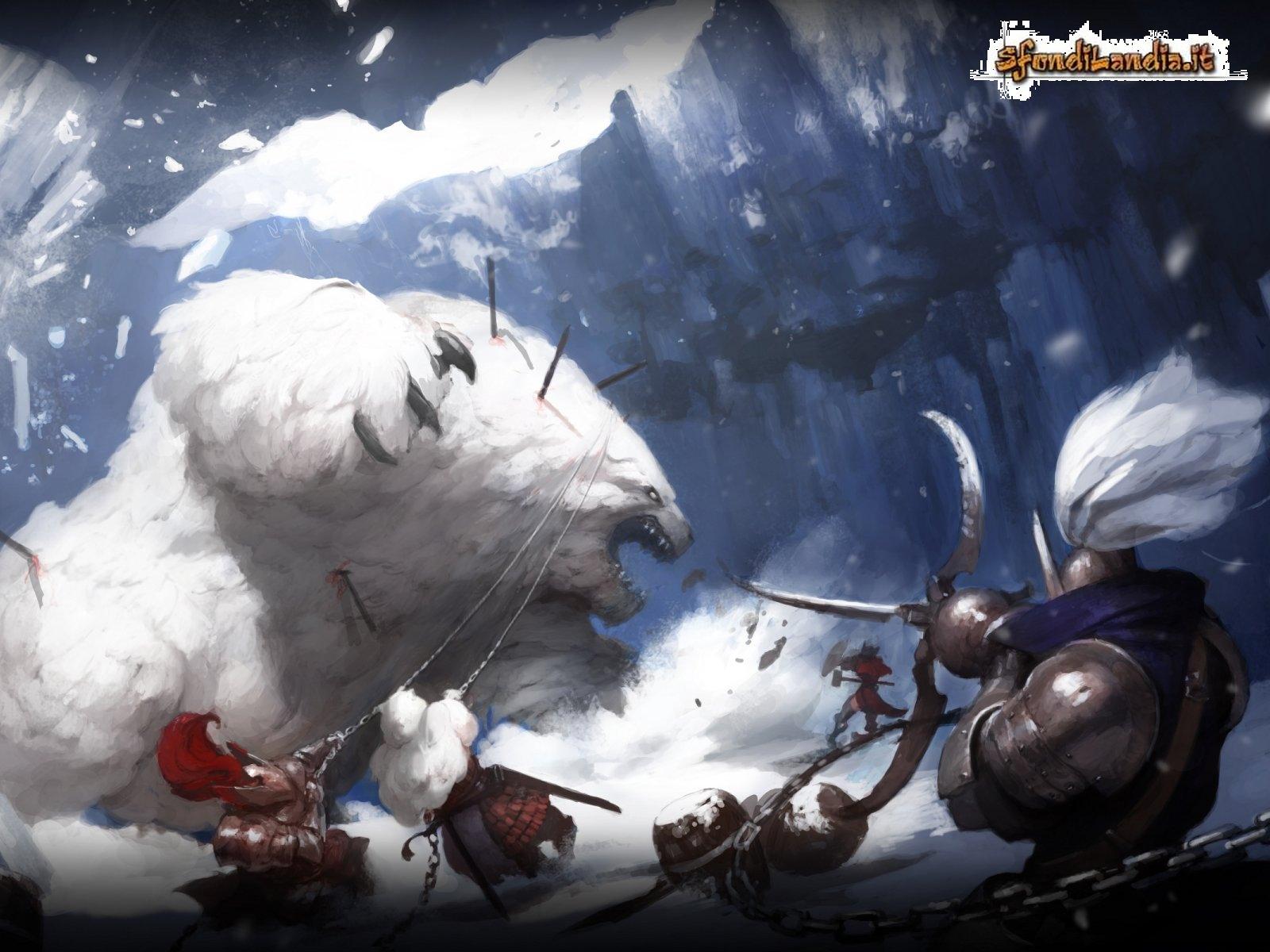 Caccia nella neve