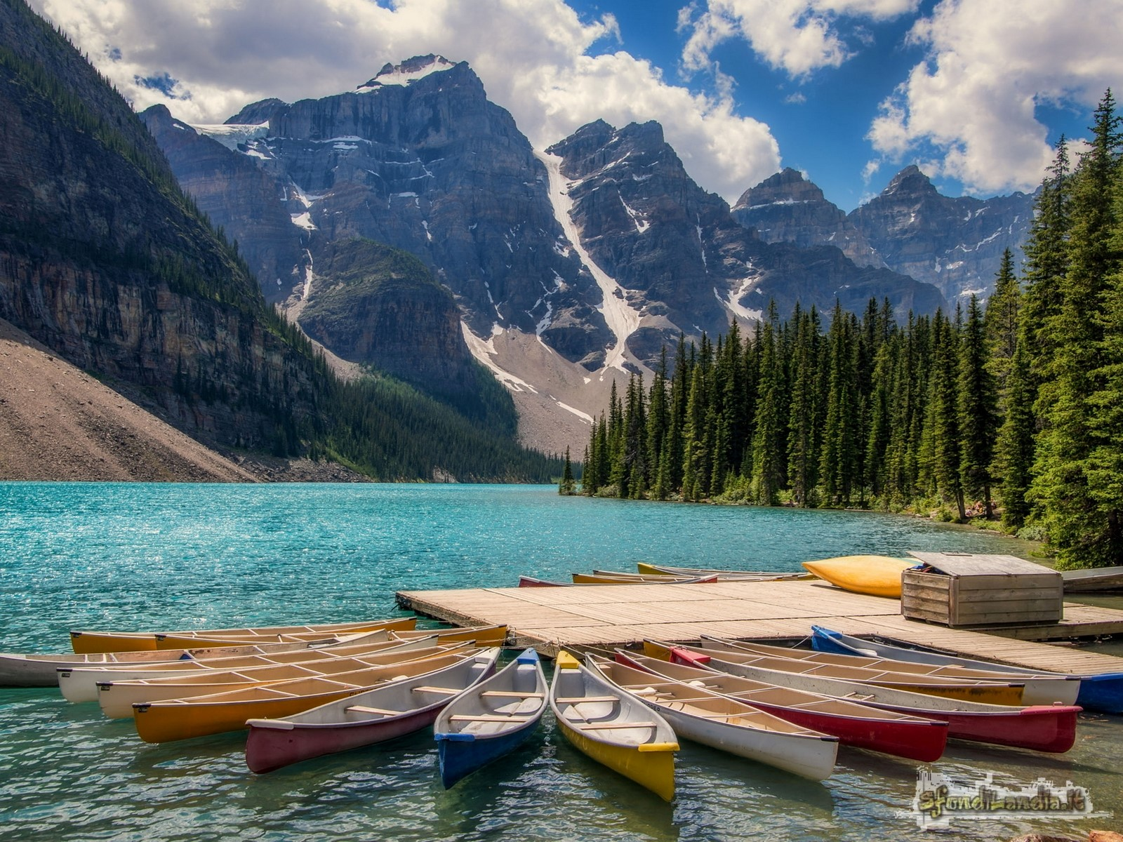 Kayaks In Lake Moraine