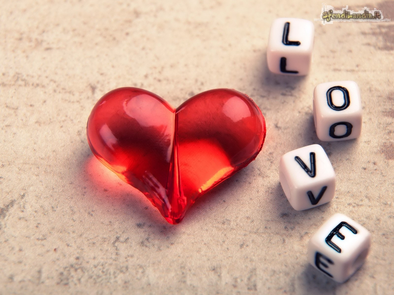 Love Dices And Red Heart