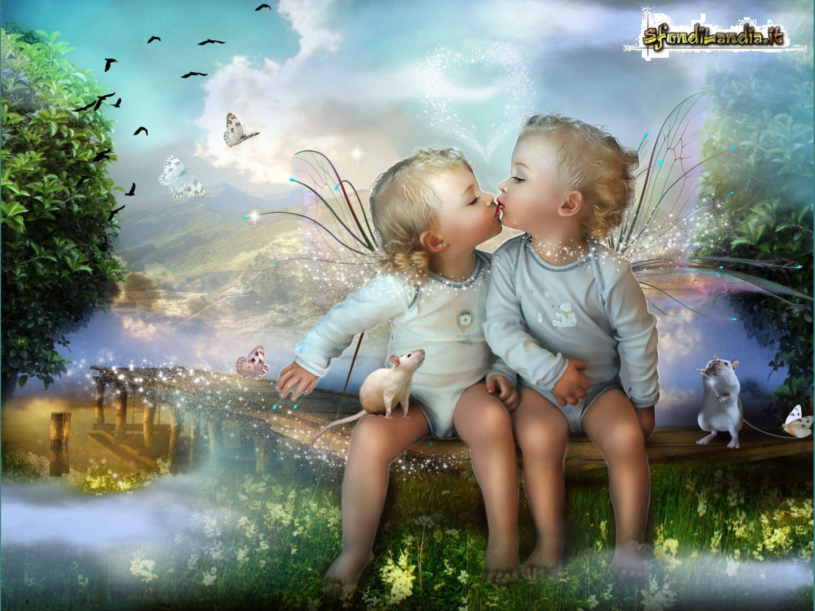 Love child couple Wallpaper : SfondiLandia.it Sfondo gratis di Piccoli angeli per desktop, smartphone Android e iPhone in ...
