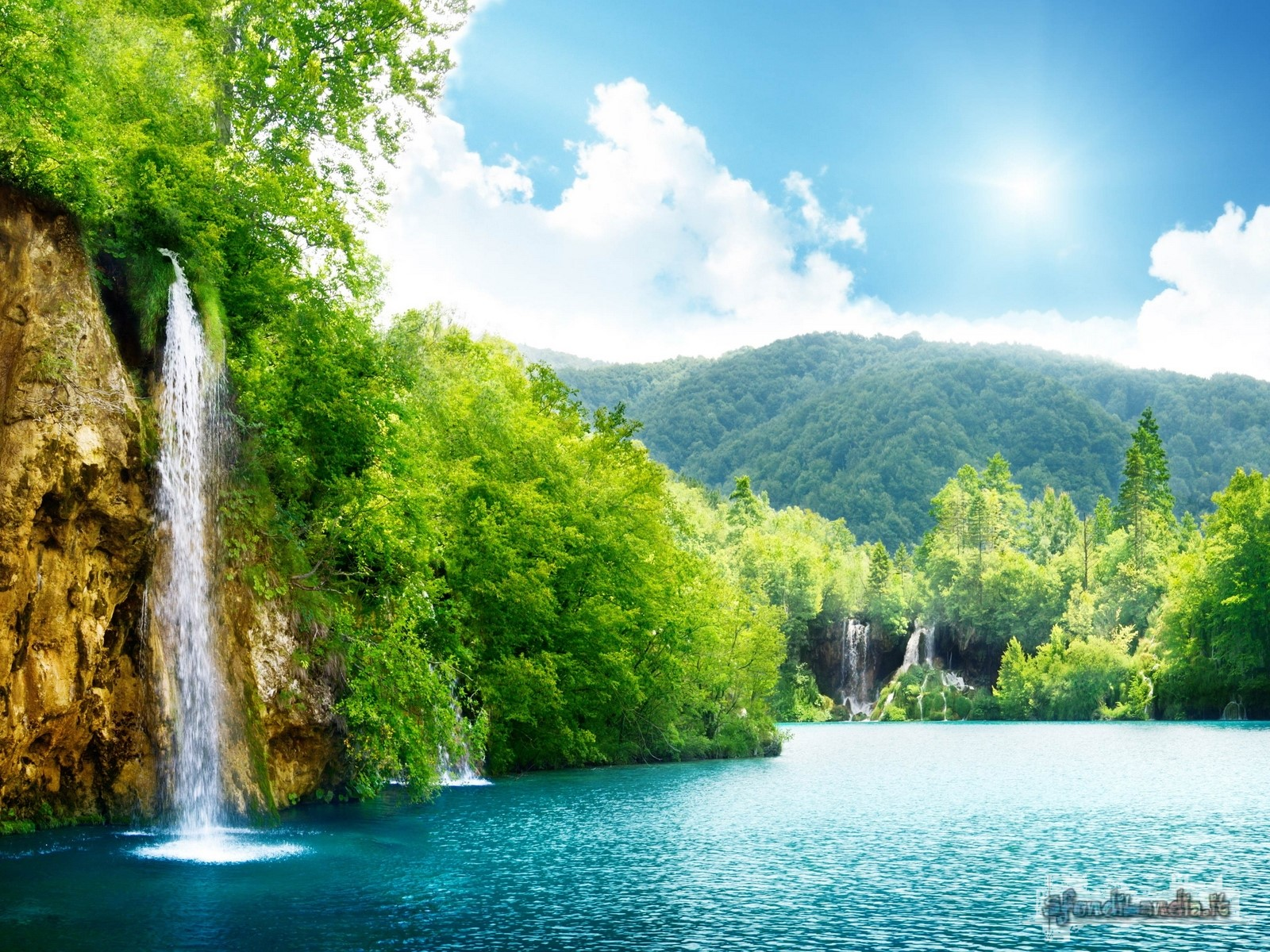 Waterfalls In The River