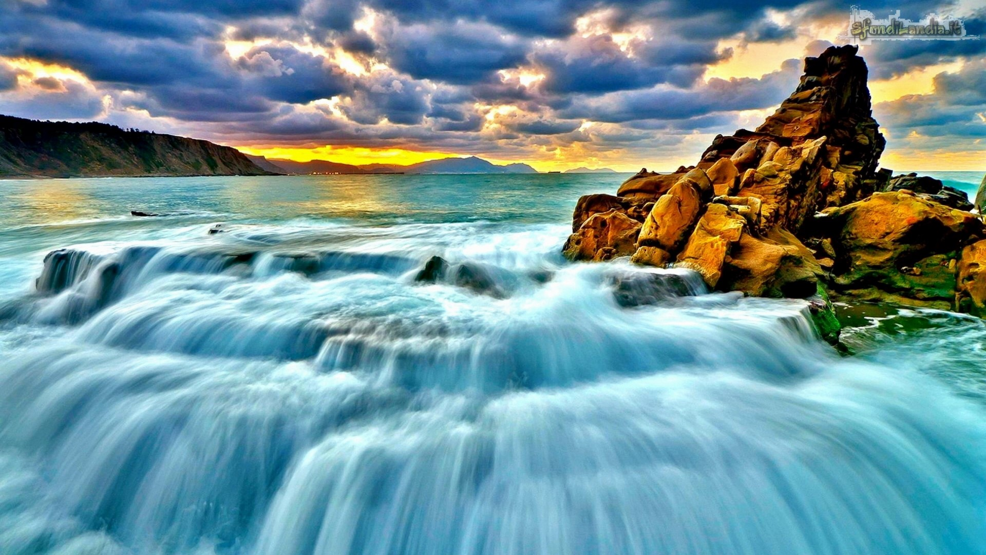 Sea Waterfall