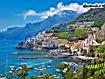 Sfondo: Il porto di Amalfi