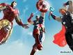 Sfondo: Iron man, Cap And Thor