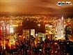 Sfondo: Hong Kong di sera