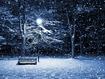Sfondo: Panchina sotto la neve