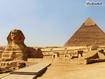 Sfondo: Sfinge e piramidi