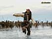 Sfondo: Jack Sparrow in fuga