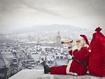 Sfondo: Babbo Natale sui tetti