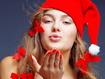 Sfondo: Santa Girl Kiss