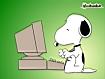 Sfondo: Snoopy al PC