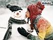 Sfondo: Snowman Kissed