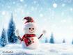 Sfondo: Snowman With Scarf