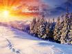 Sfondo: Sole sulla neve