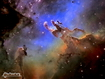 Sfondo: Nebulosa Aquila