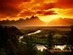 Vallata al tramonto