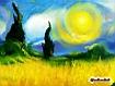 Sfondo: Gli alberi e il sole